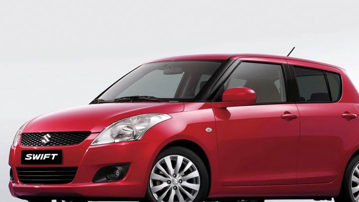 2011 Suzuki Swift In Red Side Pose